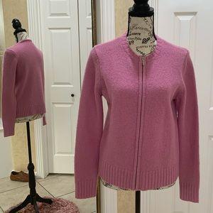 100% Wool MODA International Cardigan Sweater (M)